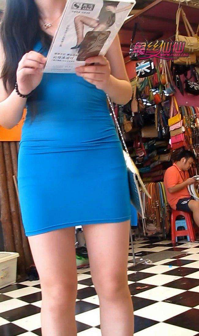 透视紧身包臀裙丰满爆乳MM